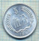 8347 MONEDA- CHINA - 5 FEN -anul 1988 -starea ce se vede, Africa