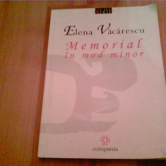 MEMORIAL IN MOD MINOR -ELENA VACARESCU - Biografie, An: 2001