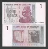 ZIMBABWE   1  DOLAR   DOLLAR  2007 ,  a  UNC  [1]  P-65 , aproape   necirculata