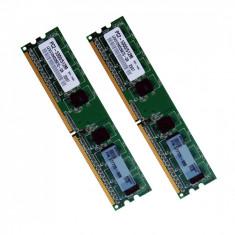 Memorie Desktop DDR2 2x512MB (1GB) Frecventa 667 MHz - Memorie RAM, Dual channel