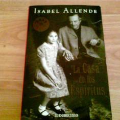 LA CASA DE LOS ESPIRITUS -ISABEL ALLENDRE - Carte in spaniola