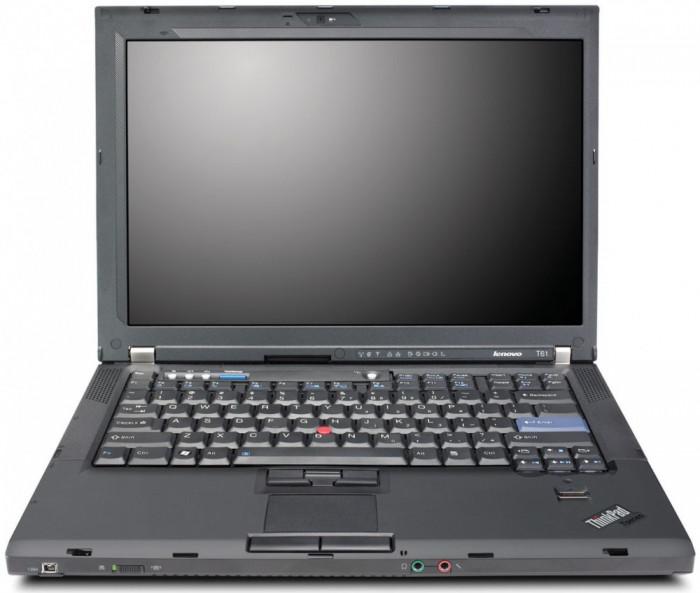 """Laptop Lenovo Thinkpad T61 T7250 2.00 Ghz, Ddr 2 Gb, Hdd 120 Gb, 15.4"""" foto mare"""