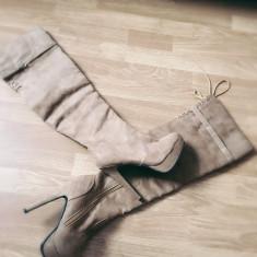 Cizme lungi cu toc si platforma - Cizma dama