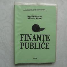 FINANTE PUBLICE - MOLDOVAN , HERCIU