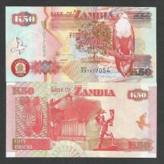 ZAMBIA 50 KWACHA 2008, UNC [1] P-37g, necirculata - bancnota africa