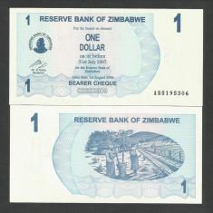 ZIMBABWE 1 DOLAR DOLLAR 2006 UNC [1] P-37, necirculata - bancnota africa