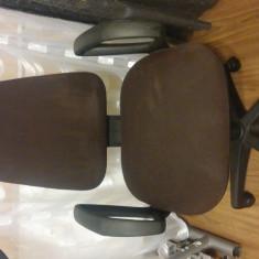 Scaun birou foarte confortabil cu multe reglaje!!!, Stofa, Maro