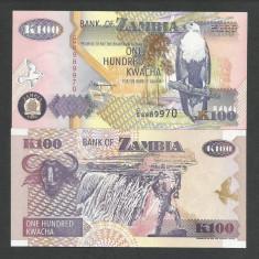 ZAMBIA 100 KWACHA 1992 UNC [1] P-38b, necirculata - bancnota africa