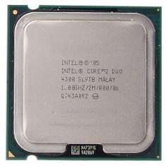 Procesor Intel Core2Duo E4300 1.8 GHz 2 MB 800 MHz 64-bit - Procesor PC Intel, Numar nuclee: 2, 1.0GHz - 1.9GHz, LGA775