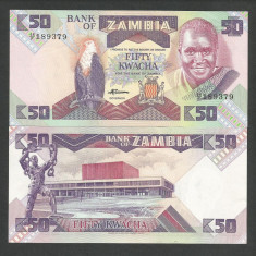 ZAMBIA 50 KWACHA 1986 1988 UNC [1] P-28a, necirculata - bancnota africa