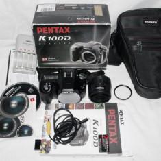 DSLR Pentax K100D, Kit (cu obiectiv)