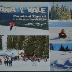 STANA (Stina) DE VALE - Paradisul zapezii si al sporturilor de iarna - Carte Postala Crisana dupa 1918, Necirculata, Fotografie