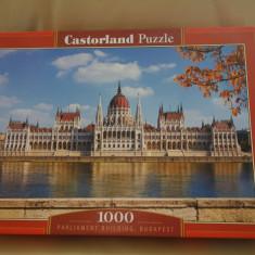 Puzzle Altele Castorland 1000 de piese - Parlamentul din Budapesta, Carton, 2D (plan), Unisex