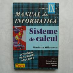 MANUAL DE INFORMATICA ; SISTEME DE CALCUL - MARIANA  MILOSESCU