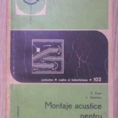 Montaje Acustice Pentru Difuzoare - C. Luca, L. Zanescu, 389382 - Carti Electrotehnica