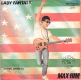 "Max Him - Lady Fantasy (1985, ZYX) Disc vinil single 7"" hit Italo-Disco"