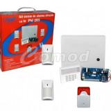 Kit sistem de alarma cu fir PNI 205 cu 3 senzori 1 contact magnetic si sirena - Sisteme de alarma