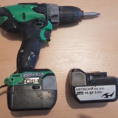 Autofiletanta Hitachi DS14DSL Masina de Gaurit si Insurubat, Acumulator
