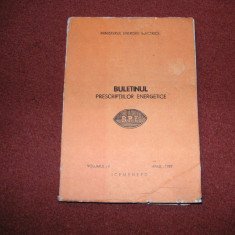 Buletinul prescriptiilor energetice - vol.4 - 1989 - Carti Energetica