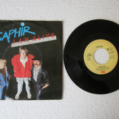 Saphir - I Am Alive (1986, EMI) Disc vinil single 7