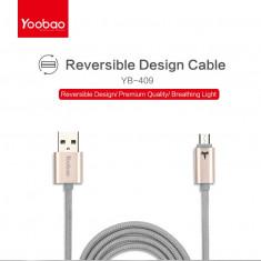 Cable Micro USB Gold YB-409 by Yoobao Original - Cablu de date Yoobao, Universala