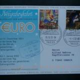 Germania trece la moneda EURO - 31.12.2001/01.01.2002 - ( circulatie Craciun ).