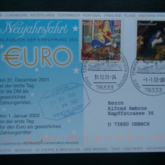 Germania trece la moneda EURO - 31.12.2001/01.01.2002 - ( circulatie Craciun ).
