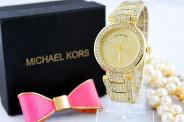 123123Ceas Luxury Michael Kors Diamond MK-1 Bratara Cristale Dama Auriu 3 CULORI