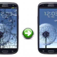 Inlocuire Geam Sticla Samsung I9300 Galaxy S3 Negru - Reparatie telefon