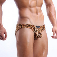 Chiloti Barbati ChilotTanga String Leopard Model Push Up Cockoon Sexy Jockstrap, Marime: L, Culoare: Din imagine