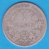 (1) MONEDA DIN ARGINT GERMANIA - 1 MARK 1873, LIT. A
