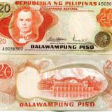 FILIPINE 20 piso 1974-85 UNC - bancnota asia