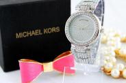 123123Ceas Luxury Michael Kors Diamond MK-1 Bratara Cristale Dama Argintiu 3 CULORI