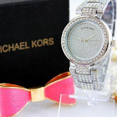 Ceas Luxury Michael Kors Diamond MK-1 Bratara Cristale Dama Argintiu 3 CULORI