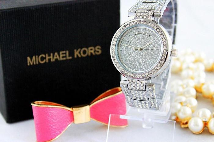 Ceas Luxury Michael Kors Diamond MK-1 Bratara Cristale Dama Argintiu 3 CULORI foto mare