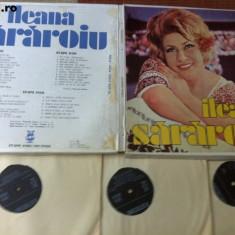 Ileana Sararoiu box set album 3 discuri disc vinyl Muzica Populara electrecord folclor lp, VINIL