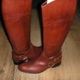 Superbe cizme dama NOI model echitatie piele manusa grena Sz 40 ! - Cizma dama, Culoare: Bordeaux, Piele naturala