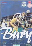 Program meci fotbal FC BURY - CREWE ALEXANDRA 05.09.2000 (Anglia)