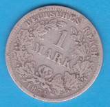 (1) MONEDA DIN ARGINT GERMANIA - 1 MARK 1874, LIT. F
