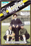 Program meci fotbal NOTTS COUNTY - NEWCASTLE UNITED 06.04.1991 (Anglia)