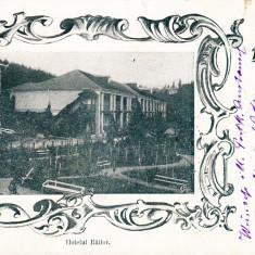 SALUTARI DIN BALTATESCI-HOTELUL BAILOR, CIRCULATA, STAMPILA MAR. 902 - Carte Postala Moldova pana la 1904, Printata, Baltatesti