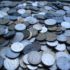 Lot (2) mare 500 monede vechi romanesti si straine, monezi bani diverse tari - Moneda Romania