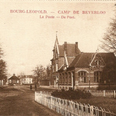 WW1 CAMP DE BEVERLO BELGIA OFICIUL POSTAL, Necirculata, Printata