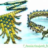 "♥ Set Handmade- Colier tip Choker si Bratara asortate din margele ""Cleopatra"" ♥ - Set bijuterii handmade si fashion"