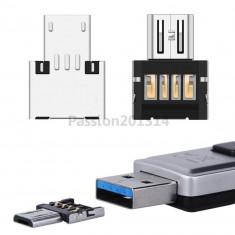 Adaptor OTG (On-The-Go) / convertor USB (mama) - microUSB (tata)