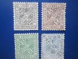TIMBRE GERMANIA WURTTEMBERG SERIE 1906, Nestampilat