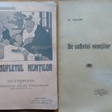 Al. Cazaban, De sufletul nemtilor, 1916, prima editie - Carte Editie princeps