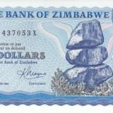 Bancnota Zimbabwe 2 Dolari 1983 - P1b UNC - bancnota africa