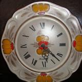 CEAS PERETE DIN CERAMICA DECORAT MANUAL - Ceas de perete