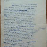 Manuscris Tudor Teodorescu Braniste, 8 foi, scris si semnat olograf ; Grafica - Autograf